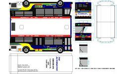 The Alterantive paper model bus transit image by Bastranz. DIY paper craft