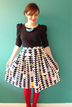triangles! triangl, fun skirt