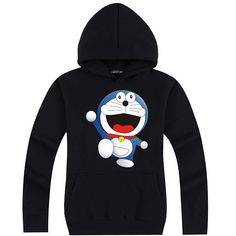 Doraemon lovely Doraemon dancing pullover hoodie sweatershirt