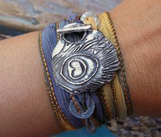 Fall Jewelry Fall Bracelet Peacock Feather by HappyGoLicky on Etsy, $49.00