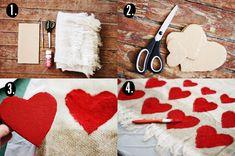 Heart blanket DIY