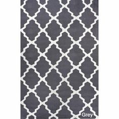 gray trellis rug--overstock