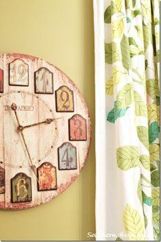 CUTE clock!!  I could possibly make one like this...
