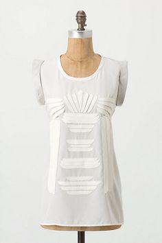 Anthro white blouse