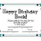 Celebrate your students birthday by having the class make a special book just for them! Included in this file, is the cover page for Kindergarten, ...