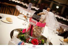 Bride & Groom centerpiece for wine party