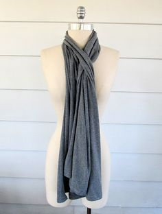 Drape vest or scarf from XL shirt