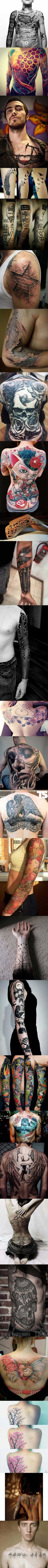 Unique tattoos.