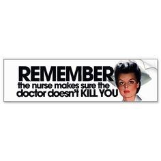 nurse humor | Funny Nurse Humor Bumper Stickers from Zazzle.com