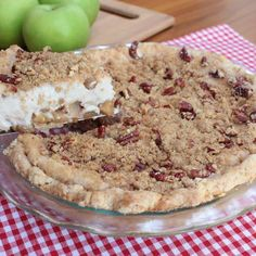 Apple Cheesecake Pie  vegan, plantbased, Earth Balance, Made Just Right