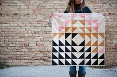 tribal quilt, this is so good #handmade #shopsmall #babyquilt