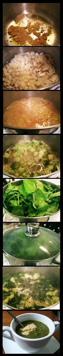 Broccoli, Spinach and Kale Soup for Meatless Monday