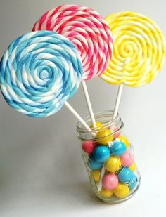 Fake Lollipop LARGE Big Carnival Candy Shoppe Clay Swirl Fake Lollipop Decoration Photo Prop on Etsy, $10.00