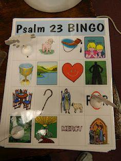 Psalm 23 Bingo idea