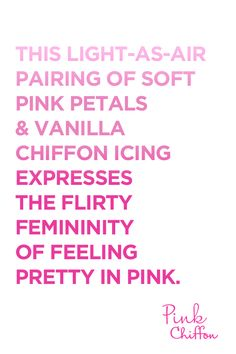 Pretty in #PinkChiffon.
