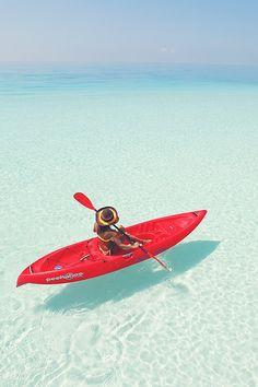 Kayaking the clear seas #kayak #kayaker #kayaking