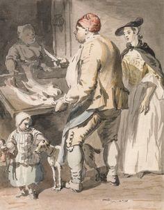 London Cries: A Fishmonger – Paul Sandby 1759