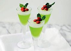 Mistletoe Jello Shots