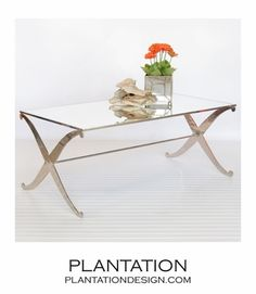 Aquitaine Coffee Table | Nickel