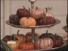 Hand Crafted Glitter Pumpkins Videos | Crafts How to's and ideas | Martha Stewart
