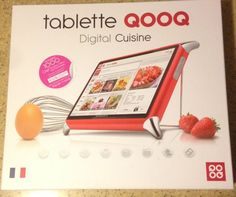 QOOQ Digital Cuisine Tablet Raspberry Red English Retails for 399.00 Recipes #QOOQ