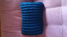 Cabled crochet pillow