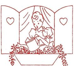 Vintage Embroidery transfer repo 9330 WWII for Bride Tea Towels 1940s Kitchen