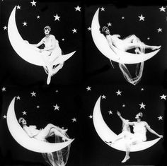 Vintage Moon and Lady