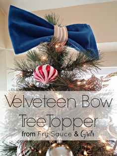 bow tree, christmas decorations, christmas bows, christmas trees, tree toppers, velveteen bow