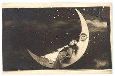 paper moon vintage paper, souvenir, paper moon, star, papers, portraits, loung, sweet dreams, moon pictures