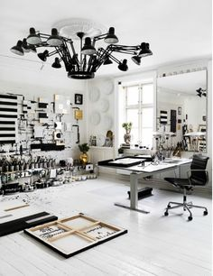 "from www.homedit.com - ""19 Artist's Studios and Workspace Interior Design Ideas"" Fixture designed by Ron Gilad, 2005"