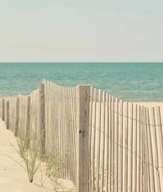 There is something so calming about the simplicity of the sand, ocean, and a beach fence directing you straight towards the water...