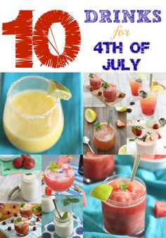 10 Drinks for Fourth of July.