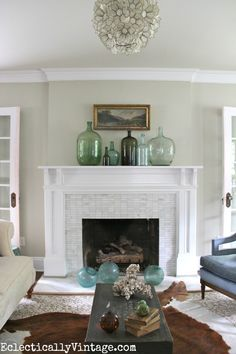 tile on fireplace