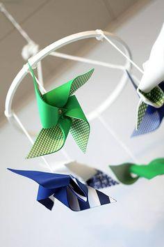 DIY Pinwheel Nursery Mobile