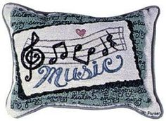 Music Decorative Tapestry Pillow