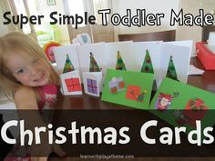 Super Simple Christmas Cards for Kids to make