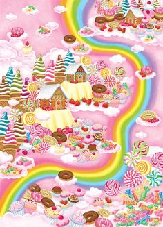 Candy land on pinterest candy land candy land party and for Candy wall mural