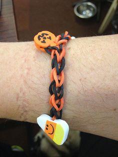 Rainbow loom bracelets halloween