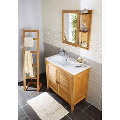 Meuble de salle de bains fjord leroy merlin home sweet - Meuble rangement salle de bain leroy merlin ...