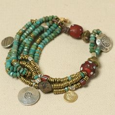 ❥ Tutorial for Across Cultures bracelet - very pretty!