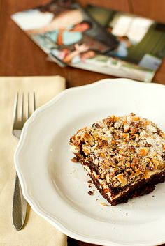 Chocolate Walnut Cream Cheese Layer Cake