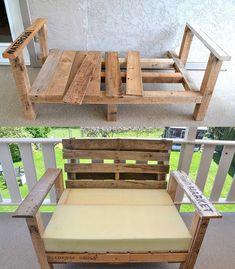 chair repurposed, patio chair, pallet repurpos, diy patio, pallet furniture