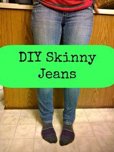 DIY Skinny Jeans - A