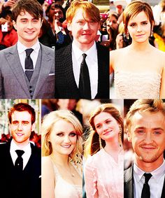 Harry, Ron, Hermione, Neville, Luna, Ginny and Draco... All grown up.