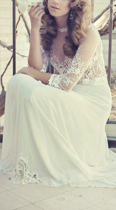 bride photos, lace wedding gowns, wedding dressses, lace wedding dresses, dress wedding, the dress, sweet dress, bohemian weddings, vintage style