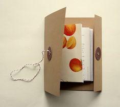 button & string mini journal