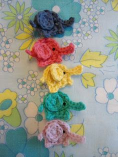 One crochet elephant came marching