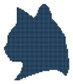 Cat Silhouette Counted Cross Stitch Pattern PDF. $3.00, via Etsy.