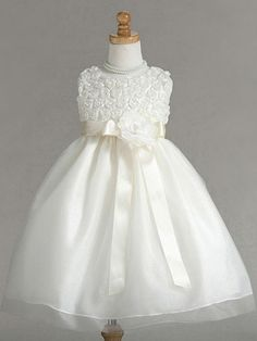 Ivory Flower Girl Dresses - style D4020 (sizes starting at 6 mos)